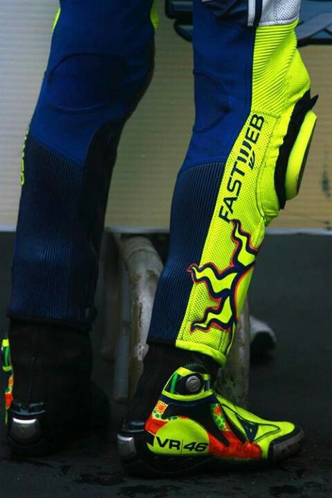Valentino Rossi. I want boots. Now
