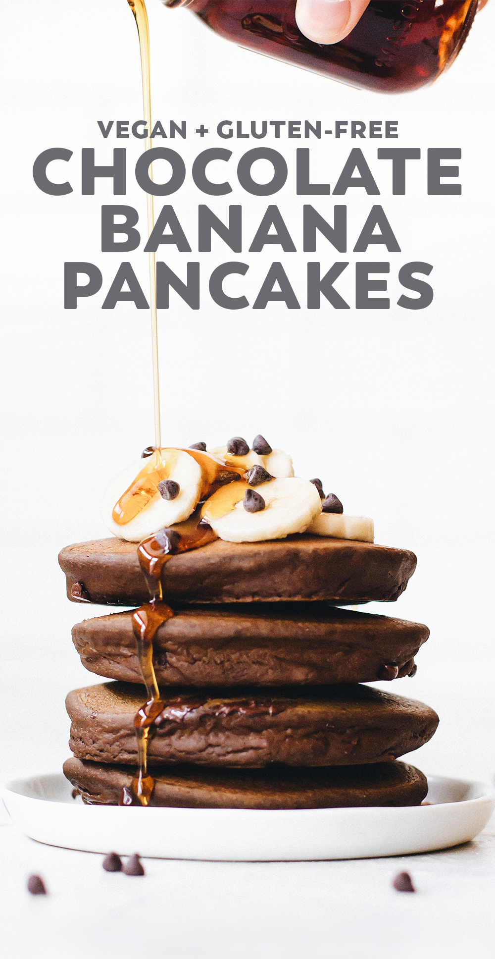 Fluffy Chocolate Banana Pancakes Recipe Chocolate Banana Pancakes Banana Pancakes Savoury Cake