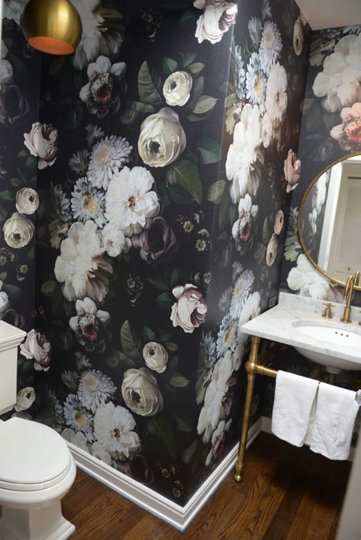 7 Must Know Rules For Decorating With Color Powder Room Wallpaper Room Wallpaper Wallpaper Accent Wall Bathroom