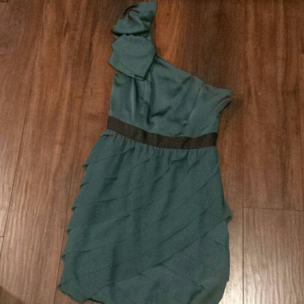 Green dress one shoulder  Lauren Conroe Green One Shoulder Dress  Products