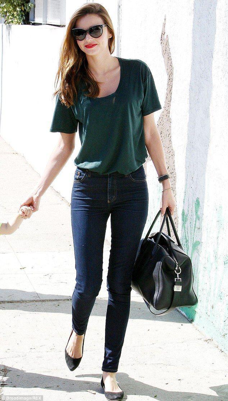 The secret behind her skinnies: Miranda Kerr, seen here in October 2013, is a big fan of Melbourne-based denim brand Nobody, and almost always wears their skinny jeans