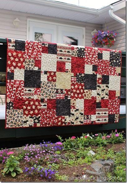 Canada theme quilt - gorgeous! | I ❤ Quilt | Pinterest ... : quilts canada - Adamdwight.com