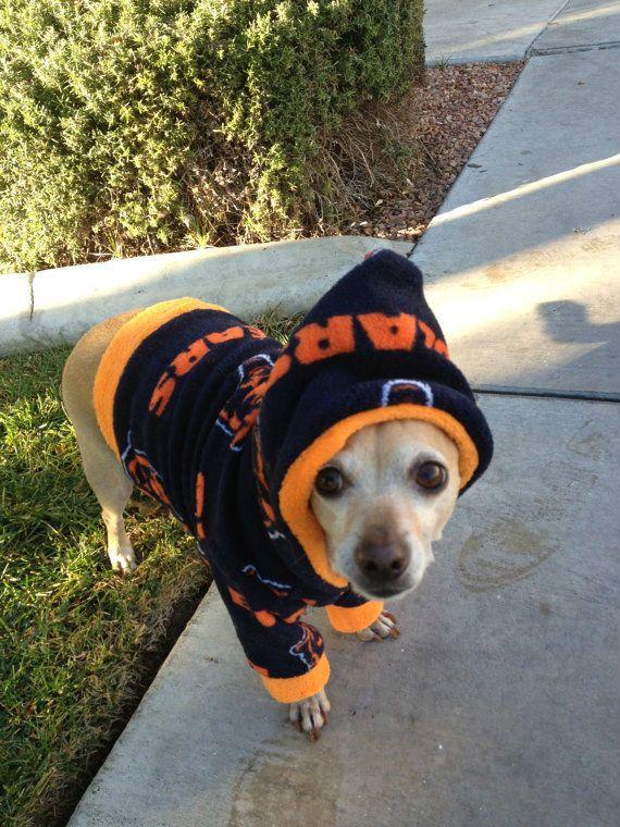 Nfl Chicago Bears Cuddle Fleece Custom Dog Hoodie Free Shipping