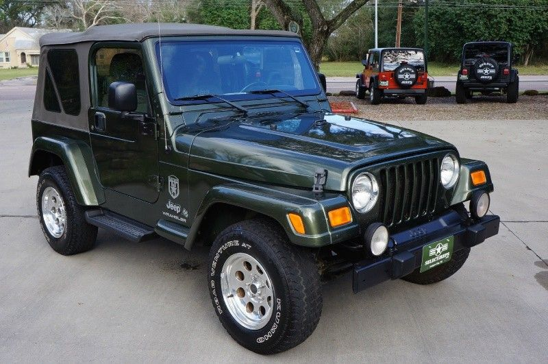 Rare 2006 Jeep Green 65th Anniversary Edition Wrangler Includes Dana 44 Rear Axle 15 Alcoa Aluminum Rims Body Painted Fen Jeep Jeep Tj Jeep Wrangler Tj