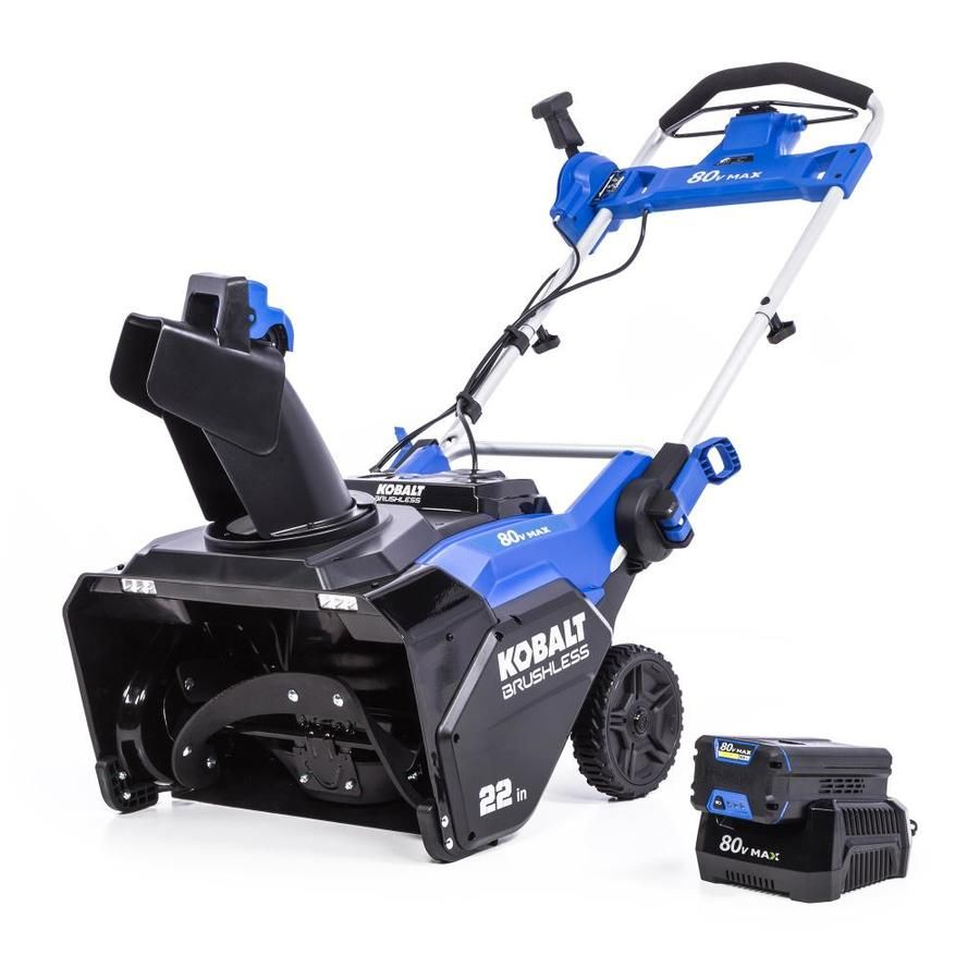 Kobalt 80 Volt Max 22 In Single Stage Push Cordless Electric Snow