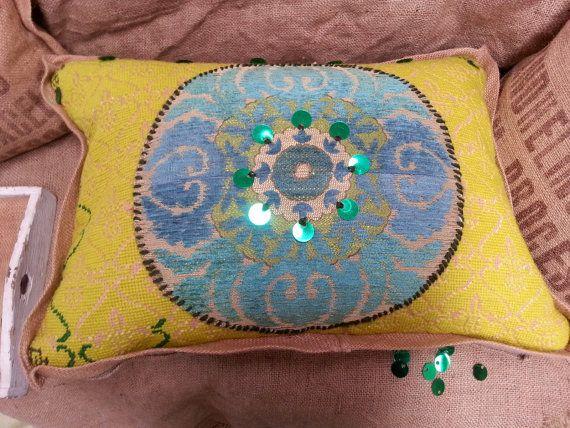 Boho Style Medallion pillow by JaniceMcCartyDesign on Etsy