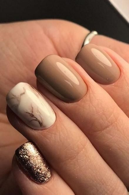 17 Trendy Acrylic Nails Coffin Brown Matte – nails →