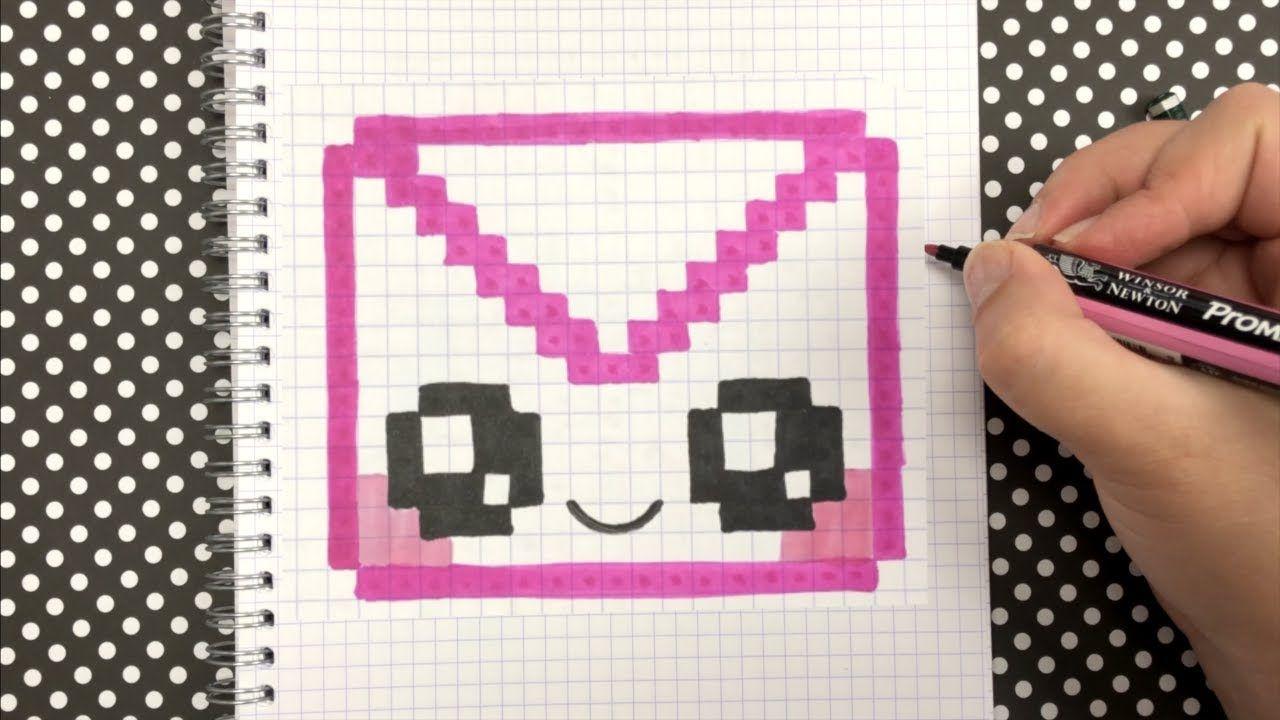 Tuto Pixel Art Comment Dessiner Une Enveloppe Kawaii Pixel Art Dessin Pixel Dessin