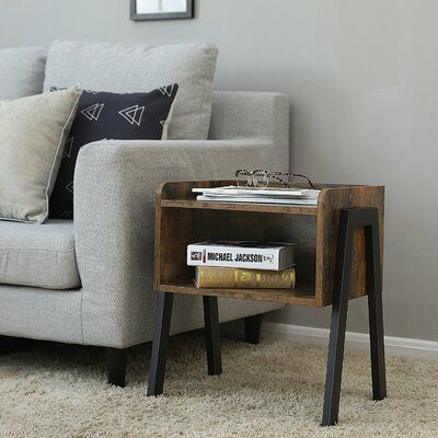 Williston Forge Lambert Wooden Stackable End Table With Inverted