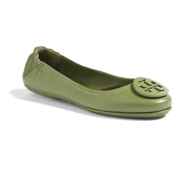 Women's Tory Burch 'Minnie' Travel Ballet Flat ($228) ❤ liked on Polyvore