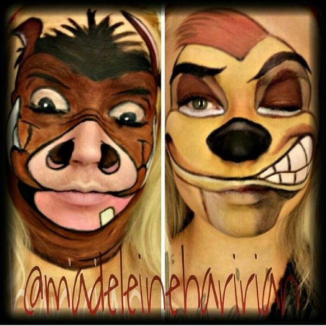 pumbaa and timon lion king ii makeup ideas pinterest. Black Bedroom Furniture Sets. Home Design Ideas