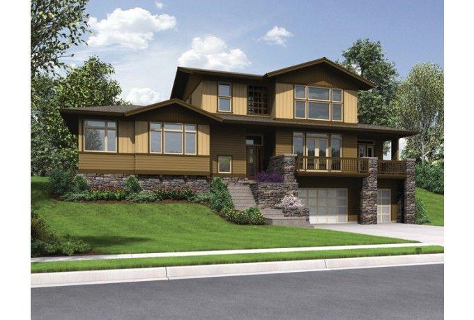 Craftsman Style House Plan 3 Beds 2 5 Baths 2754 Sq Ft Plan 48 913 Sloping Lot House Plan Craftsman Style House Plans Craftsman Floor Plans