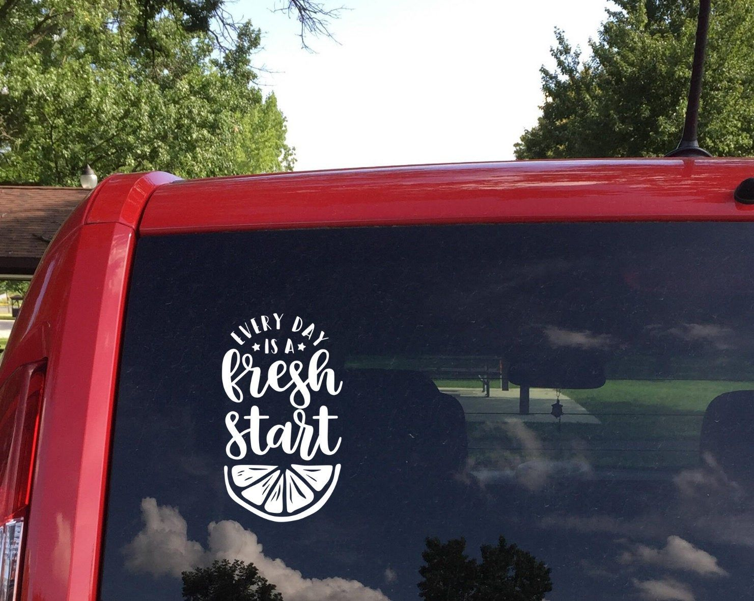 Every Day Is A Fresh Start Car Decal Decals For Cars Car Etsy Car Decals Bumper Stickers Car Accessories [ 1180 x 1481 Pixel ]