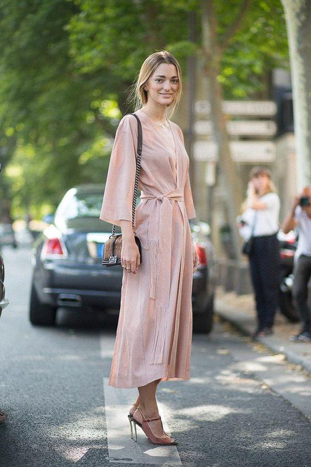 a304b9ea7c3b5 vestido invitada boda kimono dress look style