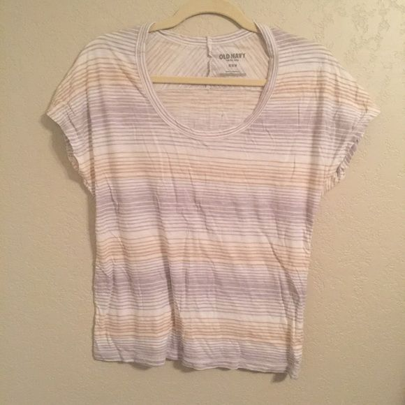Old Navy skin tee Wrinkled... I really should have ironed before posting  Tops Tees - Short Sleeve