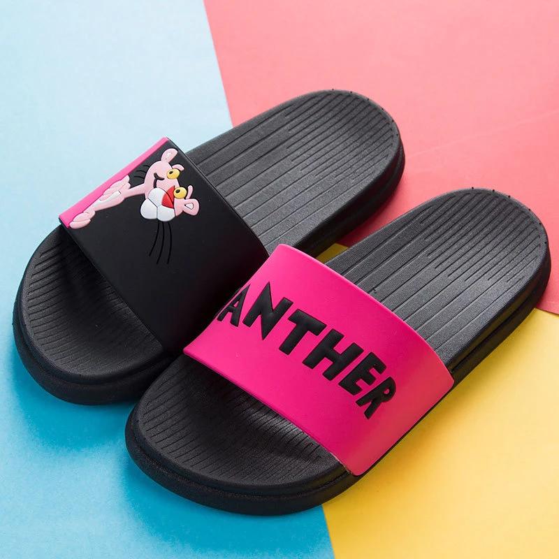 Womens Flat Sandals Home Indoor Slippers Ladies Beach Flip Flops Mules Shoes