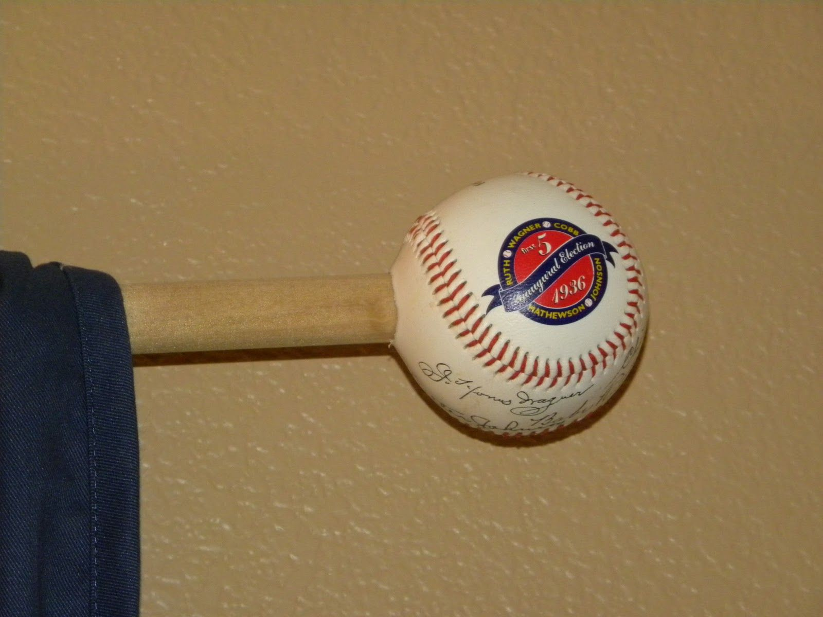 Baseball themed room the dowel to match the room but i was