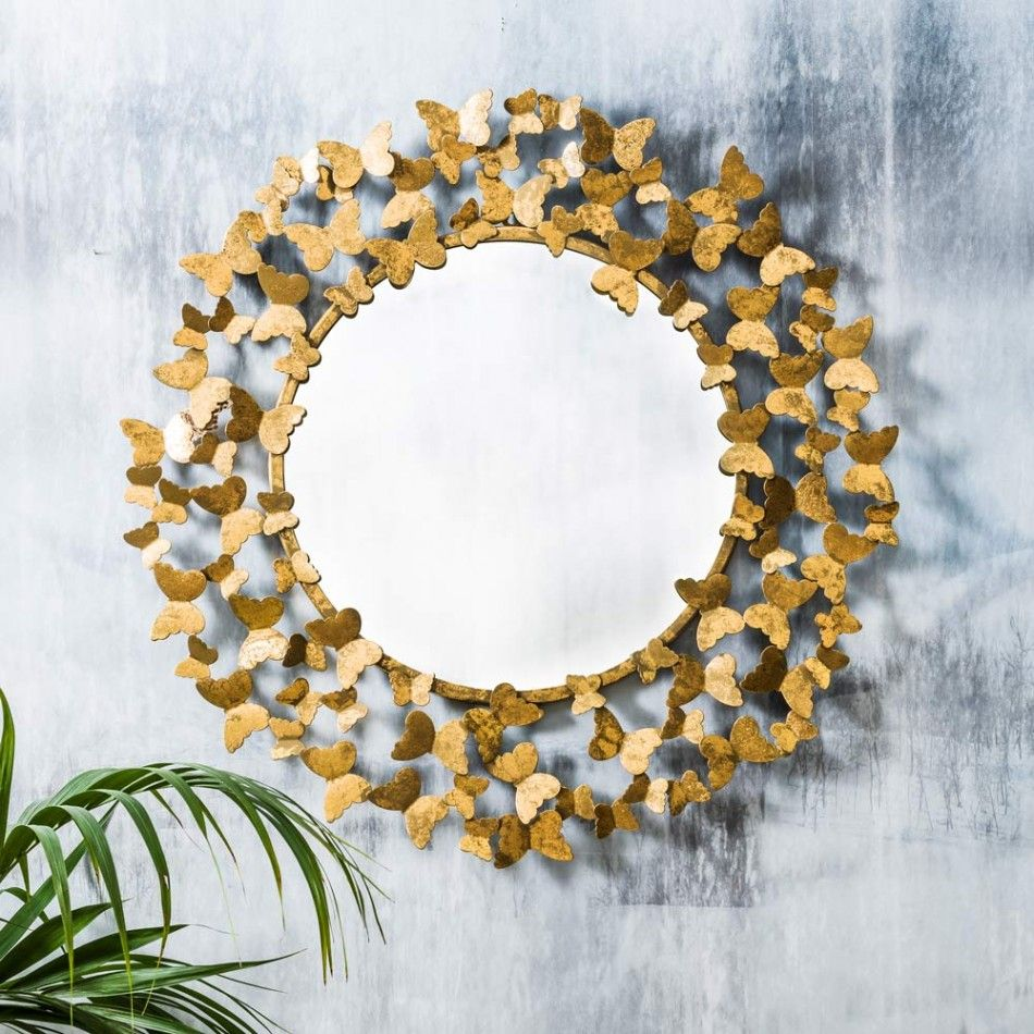 Pin by casa massima on round mirror pinterest brass mirror gold butterfly mirror large metallic trend shop by theme new for summer amipublicfo Image collections