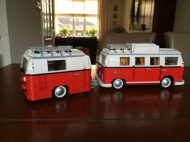 Details van het model de caravan is een lego model voor de