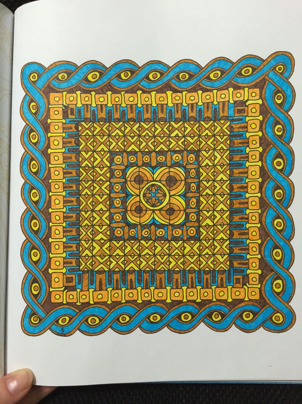 Color Me Calm, Angela Porter. Geometric Patterns, page 1