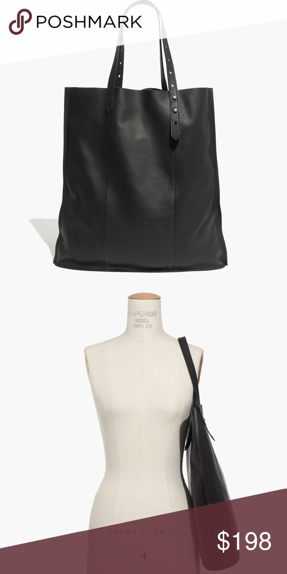 1a3ca3656b59dc Madewell McCarren Tote in True Black This super soft, ultra lightweight  tote is the perfect shopper. It even has adjustable handles so you can  easily sling ...