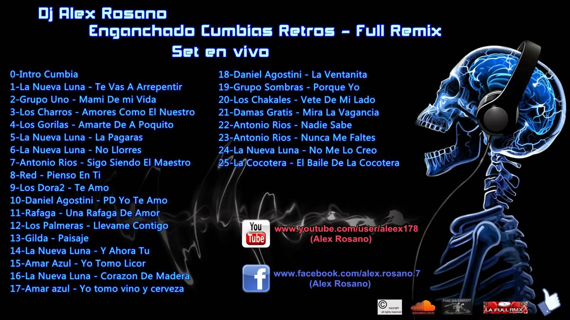 Enganchado Cumbias Retros|Cumbias Viejas - Full Remix - Dj Alex Rosano -...