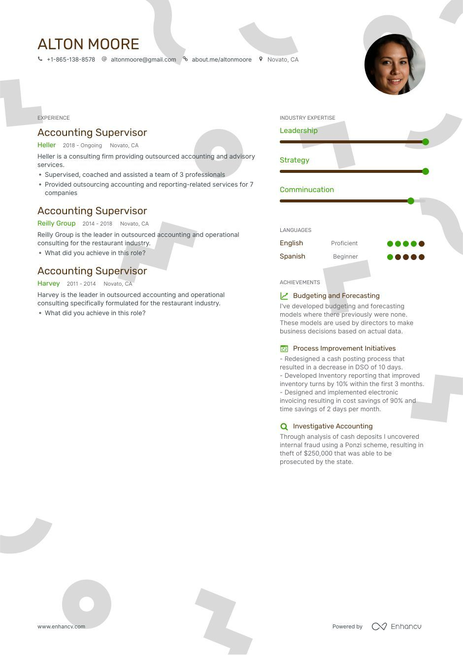 Accounting supervisor resume example and guide for 2019