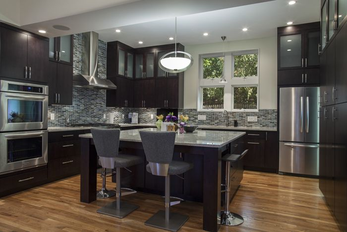 Kitchen Ideas Espresso Cabinets cabinets: espresso maple, frameless construction using metro door