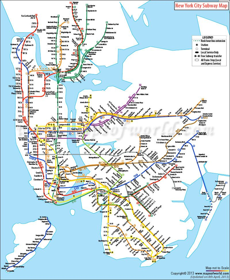 New York City Subway Map Nyc Pinterest And: Subway New York City Map At Slyspyder.com
