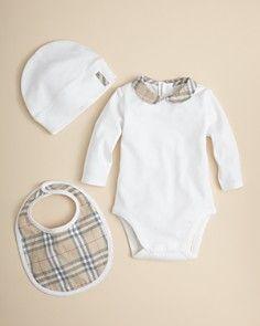 200249798 Burberry Infant Girls' Bodysuit, Hat & Bib Set – Sizes 1-24 Months ...