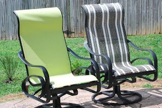 Recover Sling Back Chairs!: Recover Sling Back Chairs!! This gives a website for the vinyl material