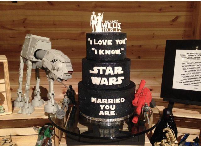 Star Wars Groom S Cake Table Grooms Cake Star Wars Cake Cake