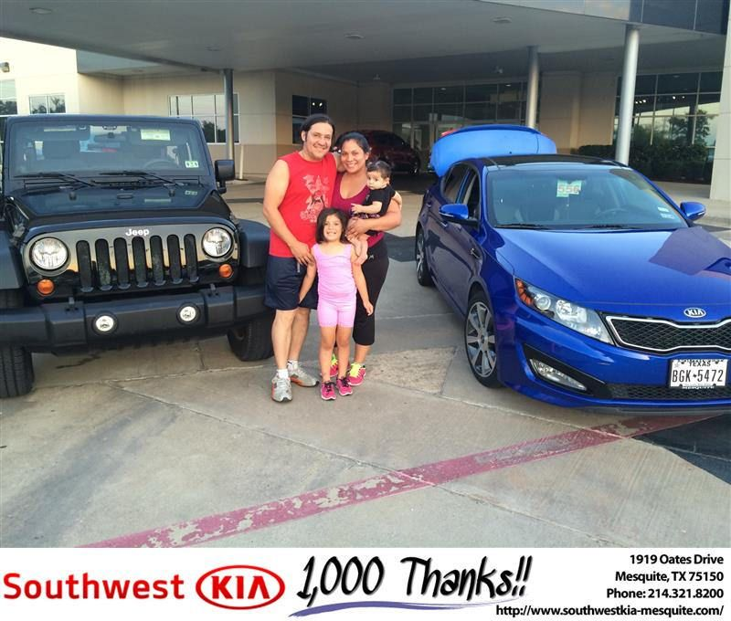 https://flic.kr/p/MKdyLV | #HappyAnniversary to Gustavo and your new car  from Ivan Navarrete at Southwest Kia Mesquite! | www.deliverymaxx.com/DealerReviews.aspx?DealerCode=VNDX
