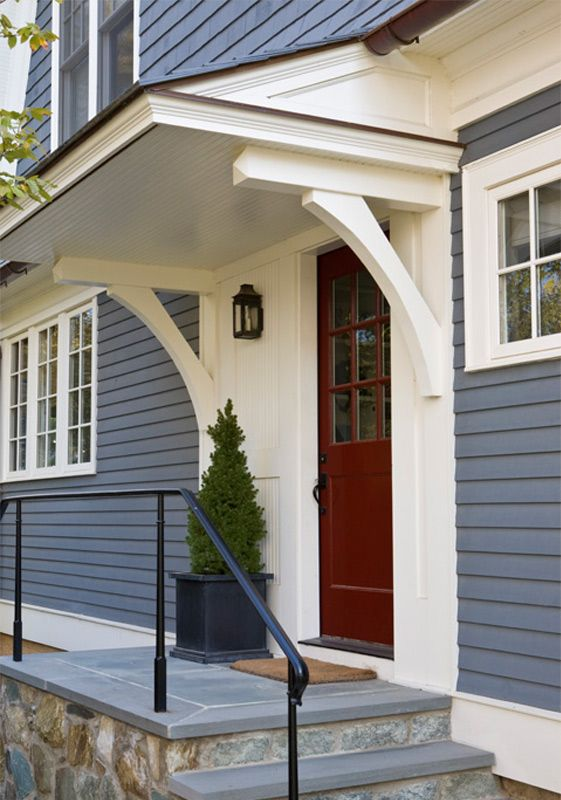 Side Door Overhang Anne Decker Architects Selected Works New Homes Shingle Style House