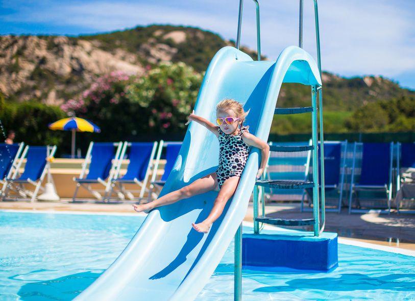 how to repair a pool slide