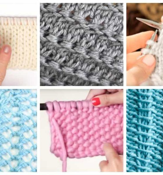 18 Easy Knitting Stitches You Can Use For Any Project Knitting