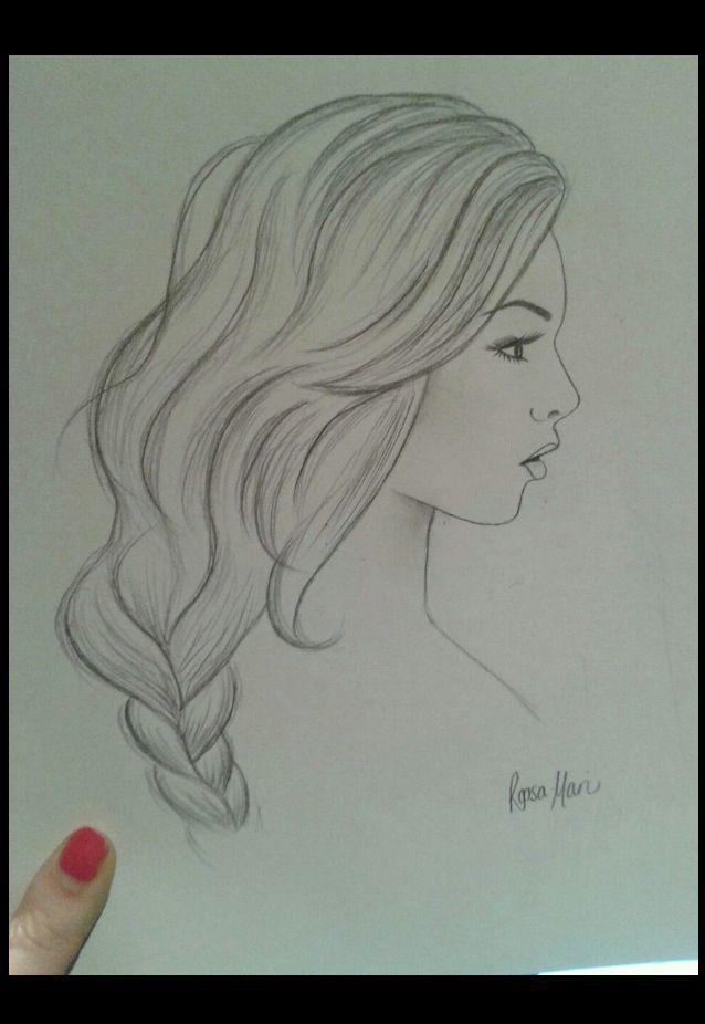 Profil Femme Dessin Pinterest