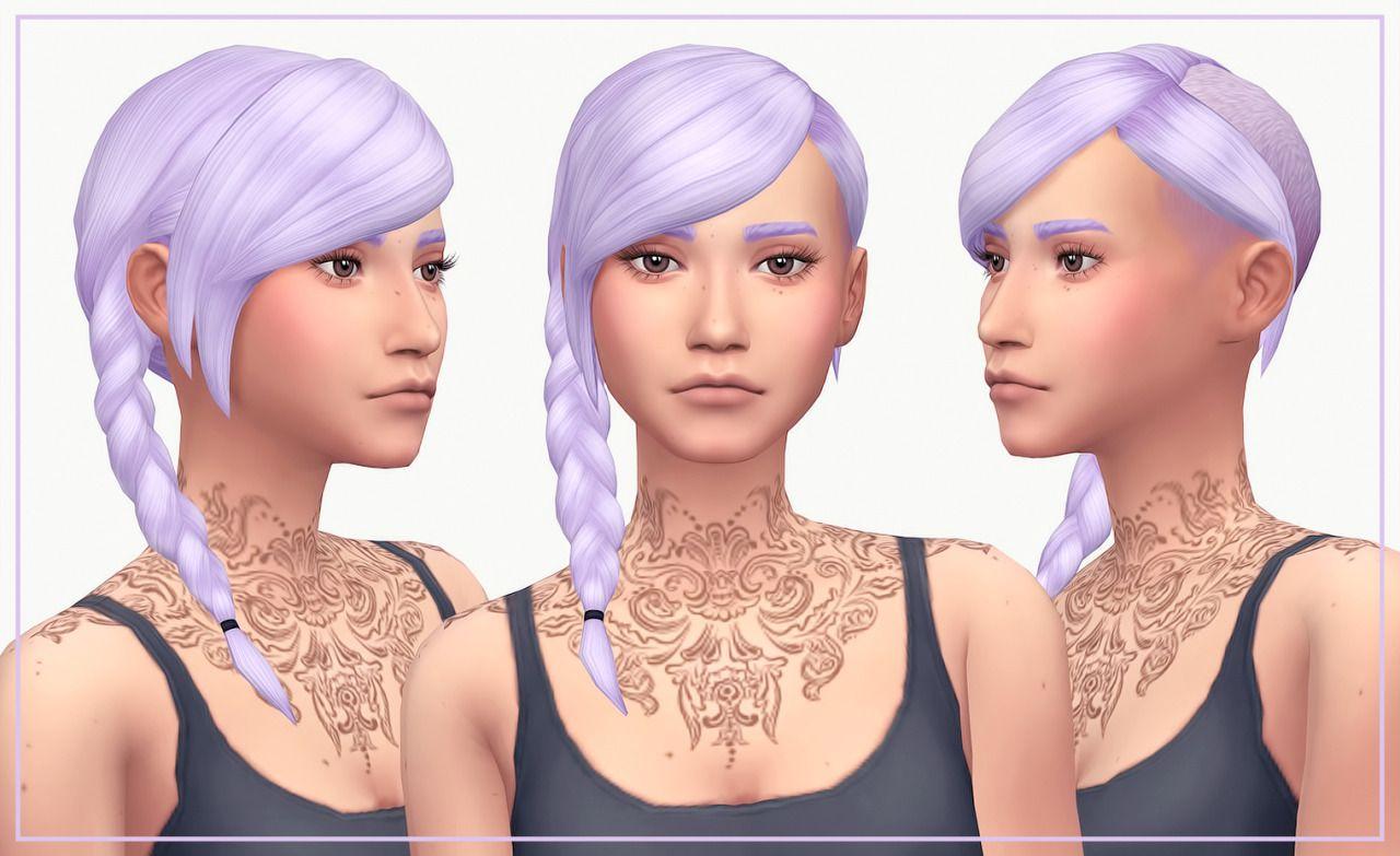 WildlyMiniatureSandwich #hair #sims 4 | Sims hair, Sims 4
