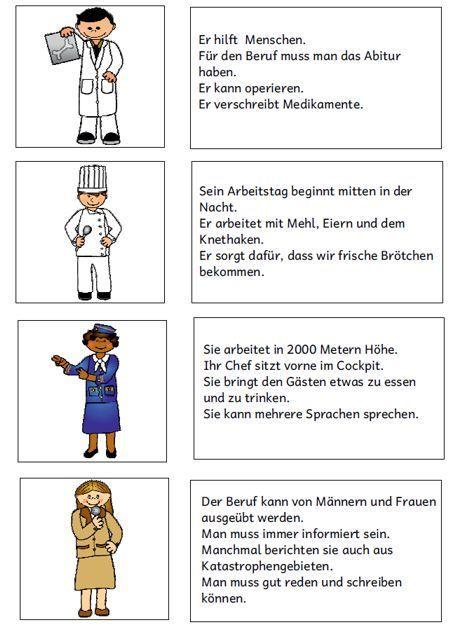 Arbeitsblätter Thema Berufe : Pin von ann chase auf deutsch pinterest