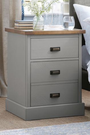 Best Shoreditch® Grey Bedside Table From Next Renovación De 640 x 480