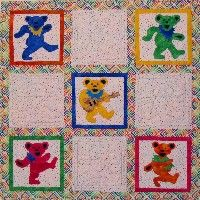 Grateful Dead Jerry Bear Quilt