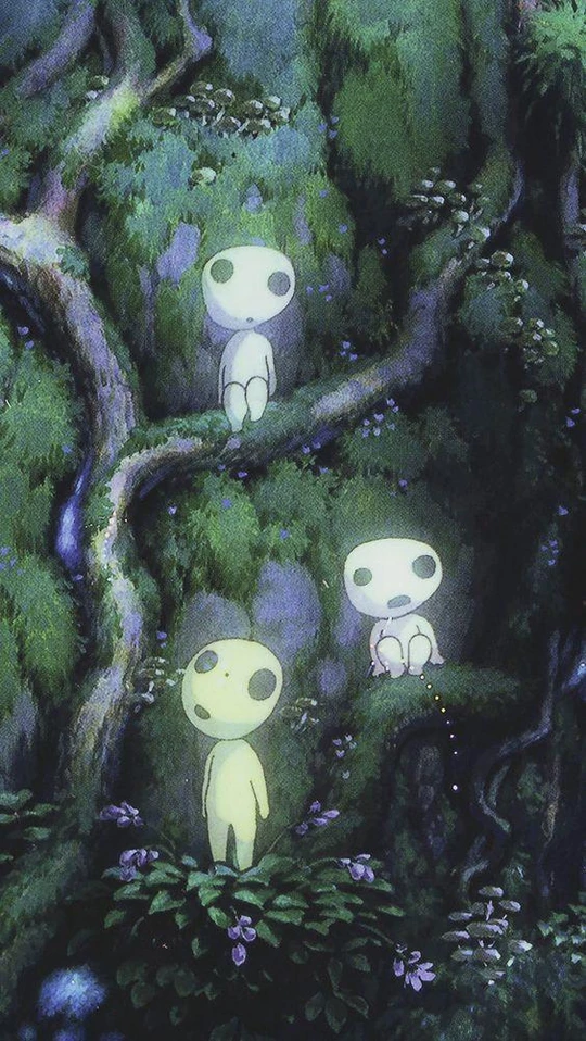 Princess Mononoke Luminous Tree Elves Spirit Kodama Gardening