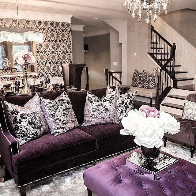 belovedpearl6's space is all about aubergine! Living Room Decor PurplePurple  ...