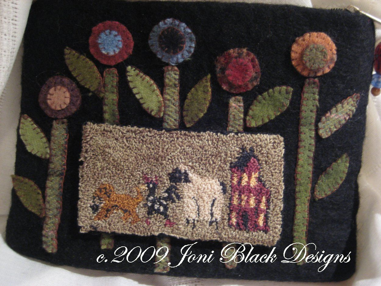 Finished Workes For Sale - Punch Needle - primitive rug hooking,wool  applique,hand