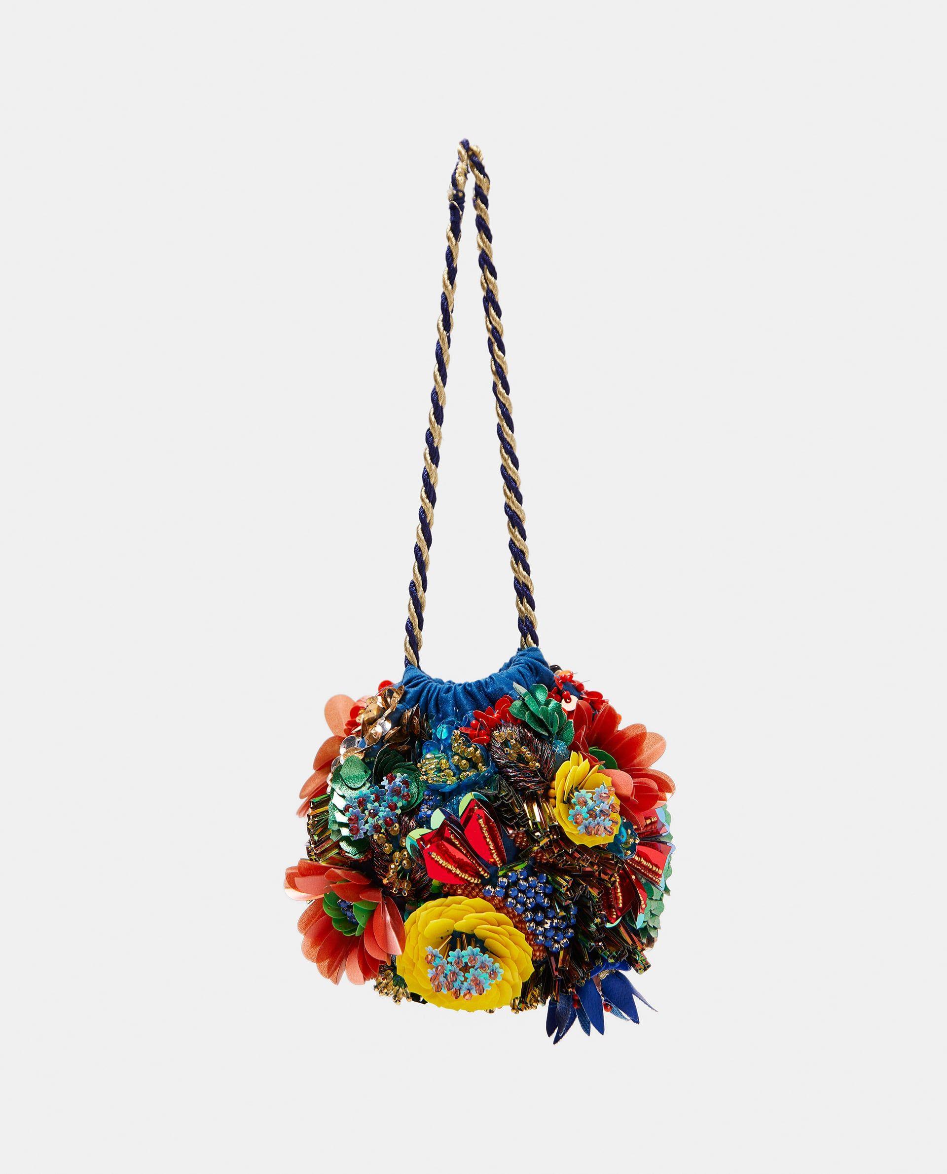 203c8bb7e BOLSO FLORES BORDADO in 2019 | Bags | Zara handbags, Purses ...
