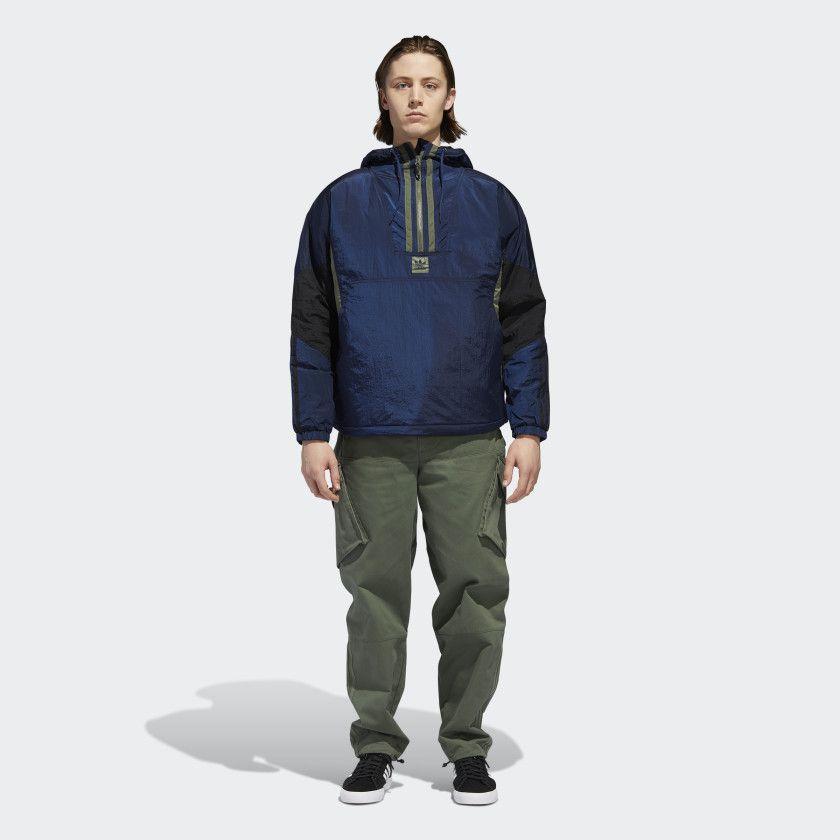 ADIDAS Skateboarding-Anorak Puffy Jacket Collegiate navy//black//base Green