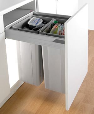 Fitted Wesco Pullboy Z Waste Bin   64L For 500mm Width Cabinet   With The  Blum