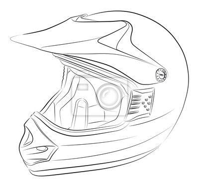 Papier Peint Standart Motocross Dessin Vectoriel De Casque