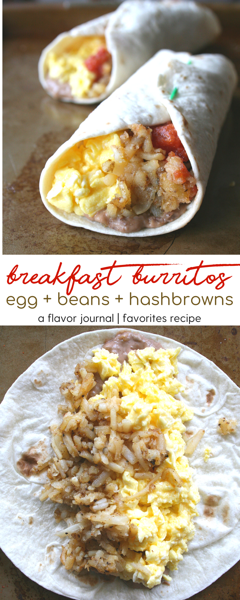 stuffed breakfast burritos with hash browns eggs and creamy black