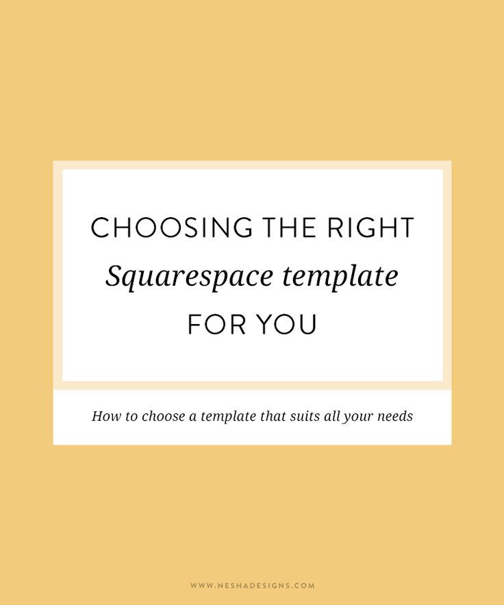 choosing the right squarespace template blissful boss babes pinterest. Black Bedroom Furniture Sets. Home Design Ideas
